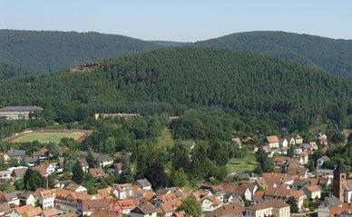 Landschap woningen bos - Pixabay