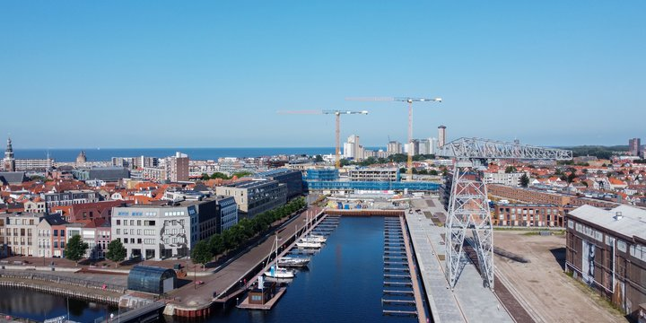 Overzicht vanaf de haven - Scheldekwartier Vlissingen