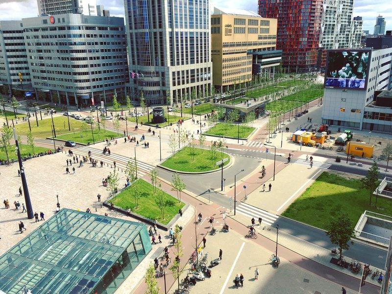 Voetgangersgebied Rotterdam Centraal