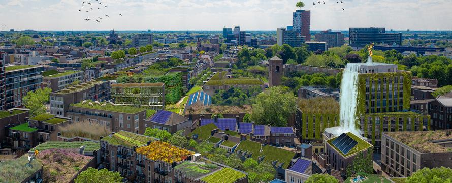 Toekomstbeeld Nijmegen duurzame dakenkaart - Rooftop Revolution, 2020