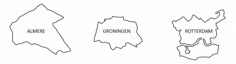 almere groningen rotterdam