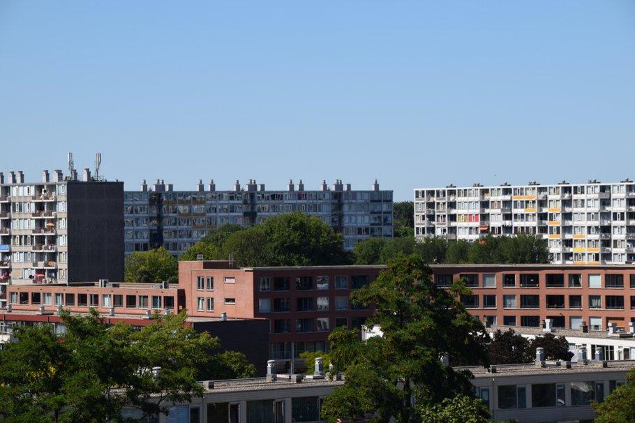 view of an apartment block in Utrecht, Overvecht, the Netherlans, Holland, Nederland