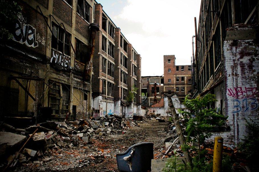 Verlaten fabriek in Detroit, Michigan