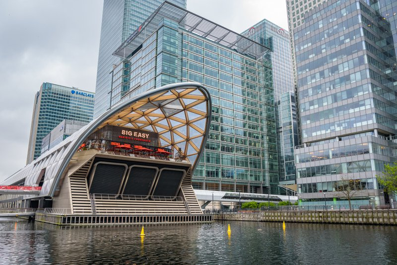 Crossrail en Canary Wharf in Londen