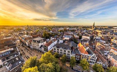 Luchtfoto binnenstad Groningen
