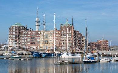 De haven van Lelystad