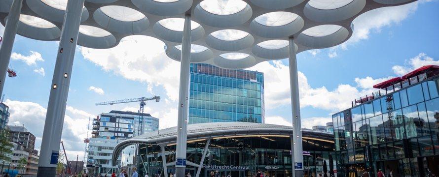 Utrecht, Netherlands, July 1st, 2019. Utrecht Centraal, Central station building facade