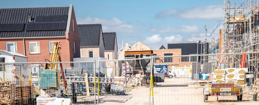 Nieuwbouw van woningen op Urk