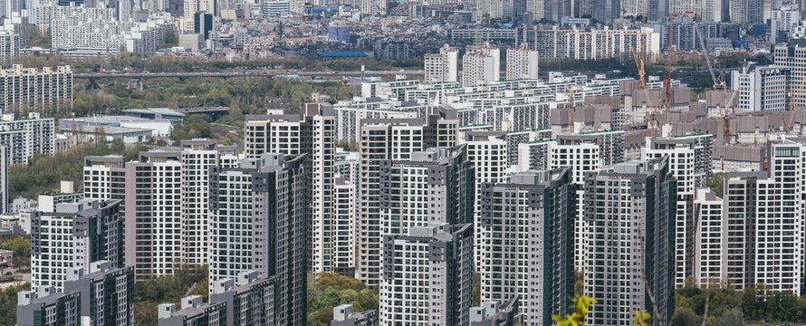 New apartments at Gangnam in Seoul