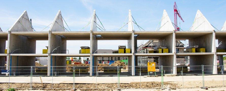 Bouw van rijtjeswoningen in Nijmegen