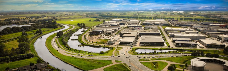 Aerial view of the business park Coenecoop