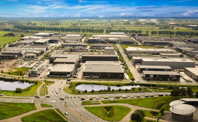 Luchtfoto bedrijventerrein Coenecoop, Waddinxveen