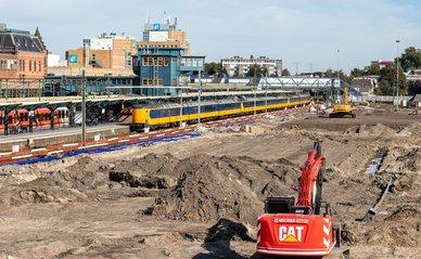 Werkzaamheden naast station Groningen