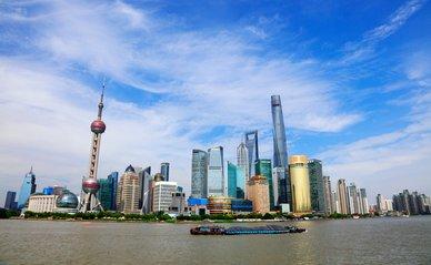 Shanghai, China - June 2, 2018: Architectural scenery of Shanghai Bund, Shanghai, China