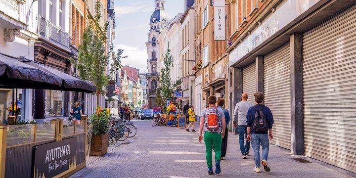 Wandelaars in Antwerpen