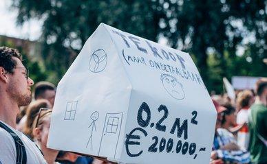 Woningbouw protest 2021