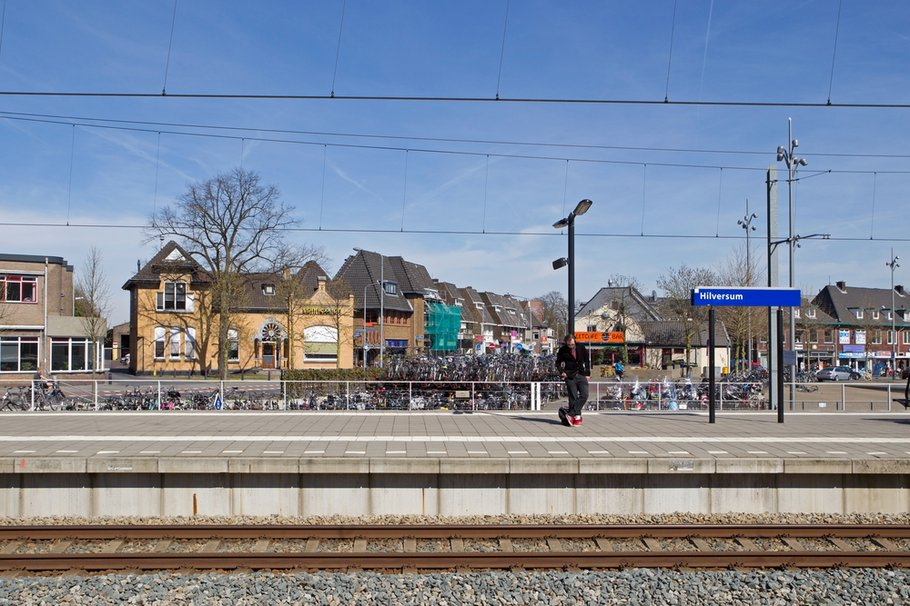 Spoorzone vanaf het station Hilversum