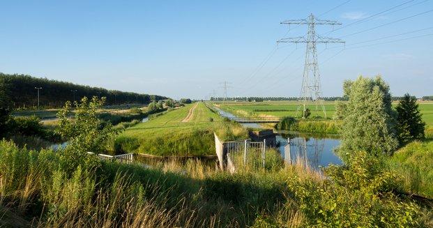 Polderlandschap in Haarlemmermeer