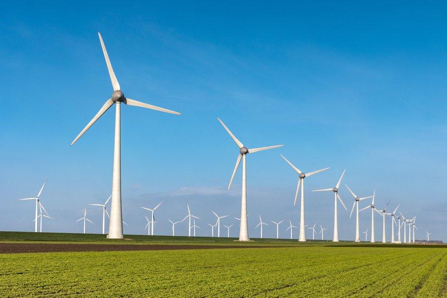 Windmolens in het landschap