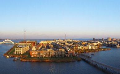 Aerial view on IJburg, Amsterdam