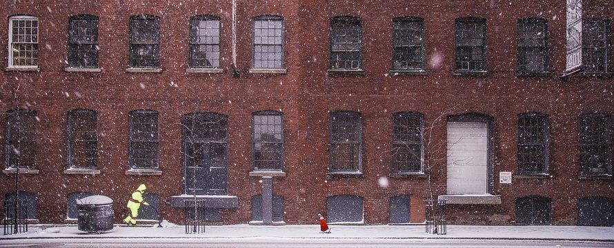 koud sneeuw huizen nyc