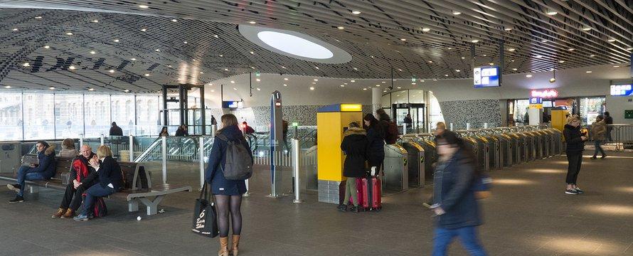 Spoorzone Delft stationshal