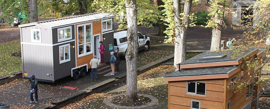 Tiny houses, houten huisjes -> DanDavidCook, Portland