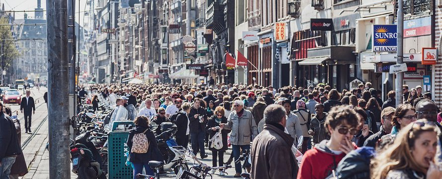 Amsterdam massa tourisme pixabay license