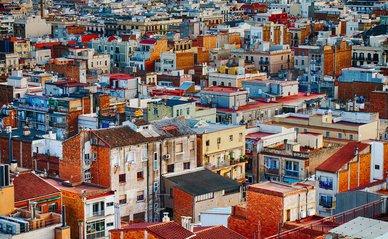 stad kavels luchtfoto huizen