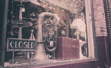 winkel gesloten