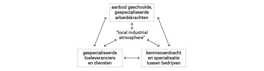 De agglomeratievoordelen van Marshalls 'industrial districts'. -> Bewerking vereniging Deltametropool