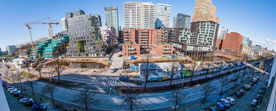 Sleutelproject Zuidas: business district -> Foto: Guido van der Heijden.