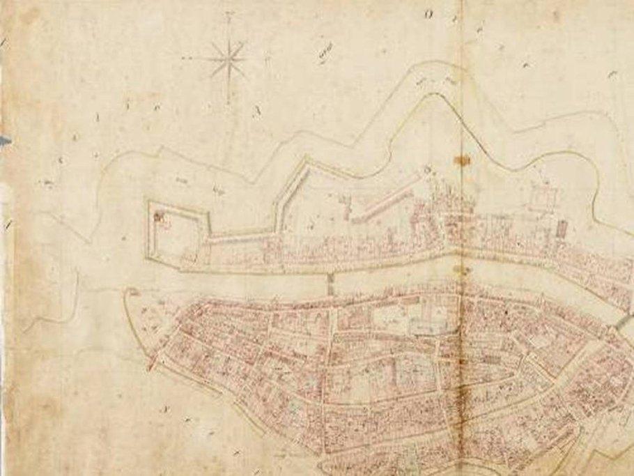 Historische tekening stadskroon